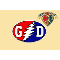 G/D BOLT RED WHITE BLUE NATION OVAL GRATEFUL DEAD STICKER