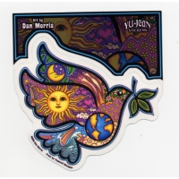 PEACE DOVE PSYCHEDELIC WINDOW STICKER