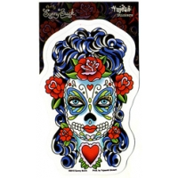 SUNNY BUICK'S BUTTERFLY EYES CANDY SKULL STICKER