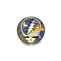 GRATEFUL DEAD 5 PIECE STEAL YOUR FACE NIGHT DAY STICKER PACK