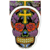 ROSE CROSS SUGAR SKULL STICKER