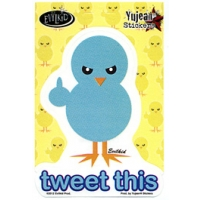 TWEET THIS BLUE BIRD STICKER