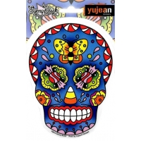 Sunny Buick Butterfly Candy Skull Sticker