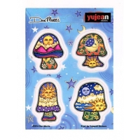 Dan Morris Mini Mushrooms 4 Pc Set Sticker