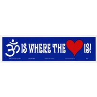OM IS WHERE THE HEART IS BUMPER STICKER