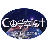 Coexist Earth Oval Sticker