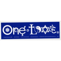 ONE LOVE IN SYMBOLS BUMPER STICKER