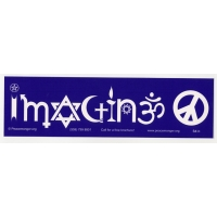 IMAGINE IN SYMBOLS BUMPER STICKER