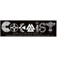 Coexist Or Coextinct Bumper Sticker