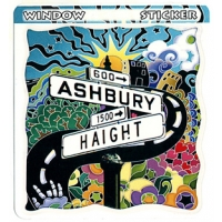 HAIGHT ASHBURY STICKER