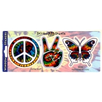 Peace Peace Butterfly 3 In 1 Sticker