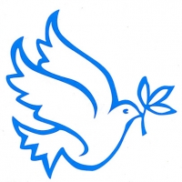 Dove and Flower Cut Out Rub On Sticker