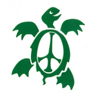Small Peace Turtle Rub On Sticker