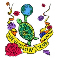 TURTLE EARTH WE ARE ON OUR OWN STICKER