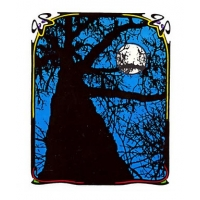 Blue Tree w/Full Moon Sticker