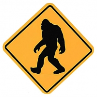 Big Foot Crossing Sticker