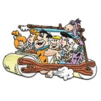 The Flintstones Riding In Car Patch
