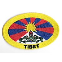 Tibetan Flag Oval Patch