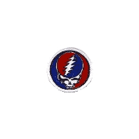 GRATEFUL DEAD LARGE STEAL YOUR FACE PATCH