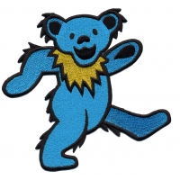 GRATEFUL DEAD EXTRA LARGE ASSORTED DANCING BEAR PATCH