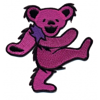 GRATEFUL DEAD LARGE ASSORTED DANCING BEAR PATCH