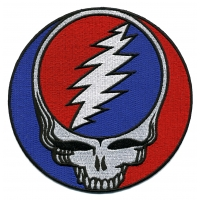 GRATEFUL DEAD XL STEAL YOUR FACE PATCH