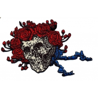 THE GRATEFUL DEAD SKULL & ROSES HEAD ONLY PATCH