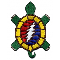 GRATEFUL DEAD LIGHTNING BOLT TURTLE PATCH