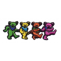 GRATEFUL DEAD SMALL 4 DANCING BEARS PATCH