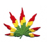 Rasta Pot Leaf Patch
