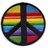 Rainbow Strip Peace Sign Patch