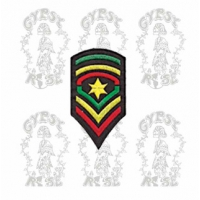 RASTA STAR SHIELD PATCH