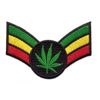 Pot Leaf Rasta Arm Band Patch
