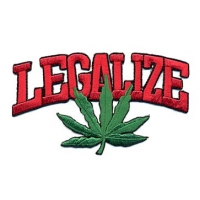 Legalize Pot Leaf Patch
