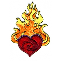 FLAMING HEART PATCH