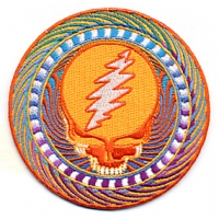 Grateful Dead Steal Your Face Orange Patch