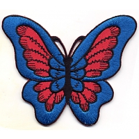 Butterfly Blue With Red Patch