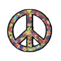 FLOWER POWER PEACE PATCH PATCH