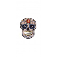 CANDY SKULL TRIBAL FLOWER PATCH