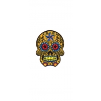 CANDY SKULL WITH STARS PATCH