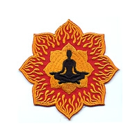 YOGA POSITION FIRE LOTUS PATCH