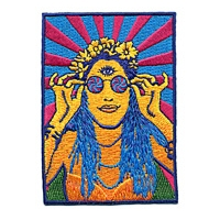 PSYCHEDELIC HIPPY CHICK PATCH