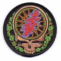 GRATEFUL DEAD STEAL YOUR FACE WITH VINES PATCH