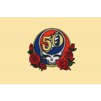 Grateful Dead Steal Your Face 50th Anniversary Red White Blue Lg Patch