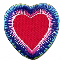 TYE DYE HEART PATCH