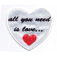 All You Need Is Love Heart Patch