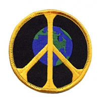 PEACE SIGN WITH EARTH PATCH