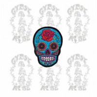 ROSE SKULL PATCH