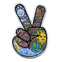 PEACE FINGERS DAN MORRIS PATCH