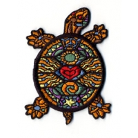 PSYCHEDELIC STAINED GLASS TURTLE PATCH